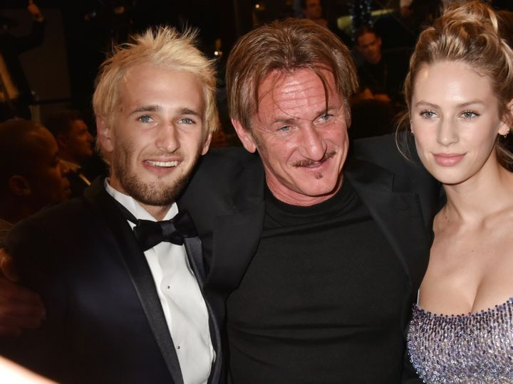Hopper Penn, Sean Penn and Dylan Penn attend 'The Last Face' Premiere during the 69th annual Cannes Film Festival on May