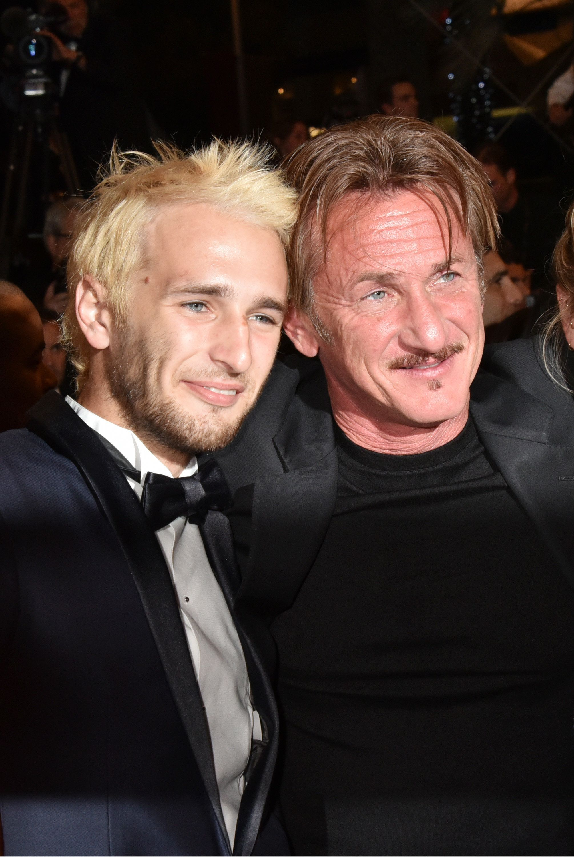 CANNES, FRANCE - MAY 20: Hopper Penn and his father director Sean Penn attend 'The Last Face' Premiere during the 69th annual Cannes Film Festival at the Palais des Festivals on May 20, 2016 in Cannes, France. (Photo by Foc Kan/FilmMagic)'n'n'n'n'n