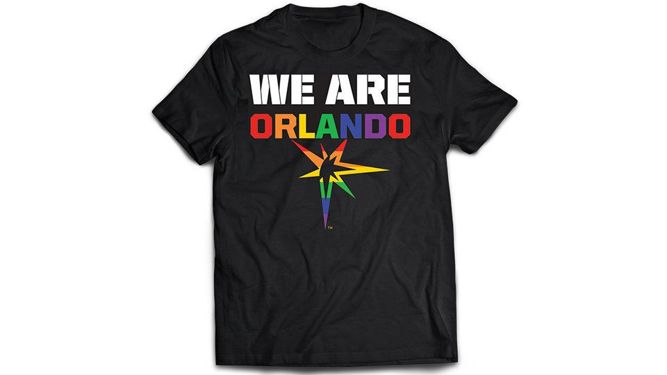 """Everyone in attendance at Friday's Rays game will receive this shirt as a """"symbol of unity and inclusion."""""""