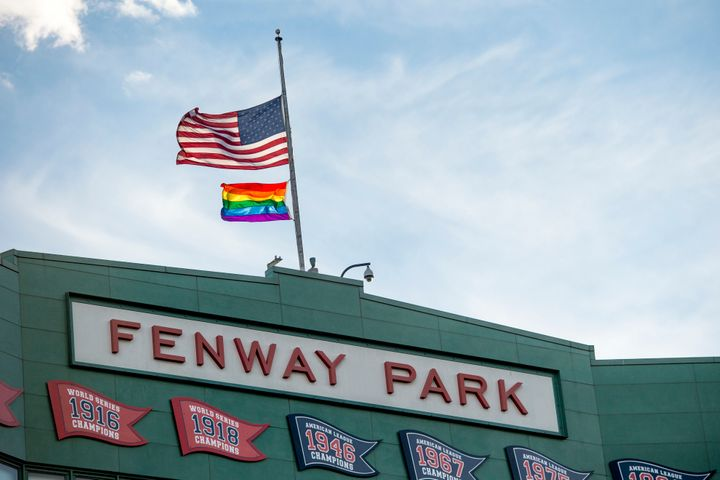 Moments of silence and flags flown at half-staff happened all across MLB games this week.