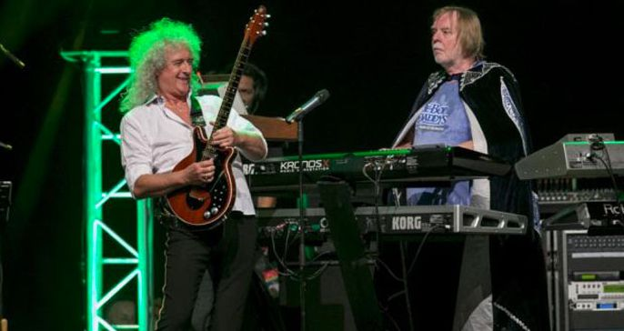 Brian May is preparing a musical surprise, with a space theme. Here he is with Rick Wakeman at Starmus