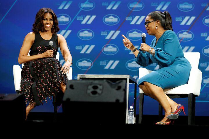 FLOTUS in conversation with Oprah Winfrey.