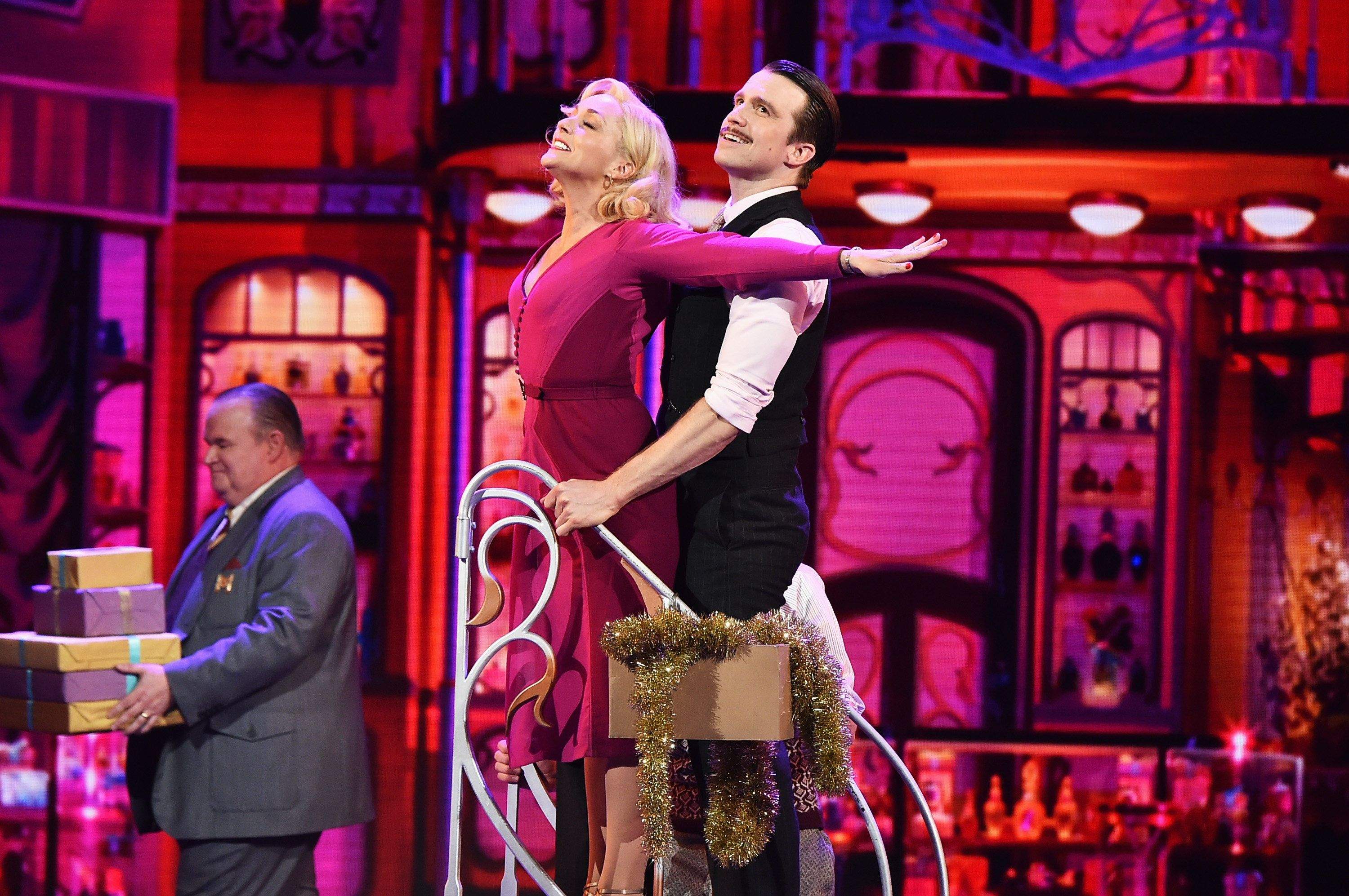 NEW YORK, NY - JUNE 12:  Jane Krakowski and Gavin Creel of 'She Loves Me' perform onstage during the 70th Annual Tony Awards at The Beacon Theatre on June 12, 2016 in New York City.  (Photo by Theo Wargo/Getty Images for Tony Awards Productions)