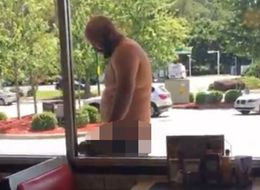 Naked Man Exposes His Sausage At Waffle House