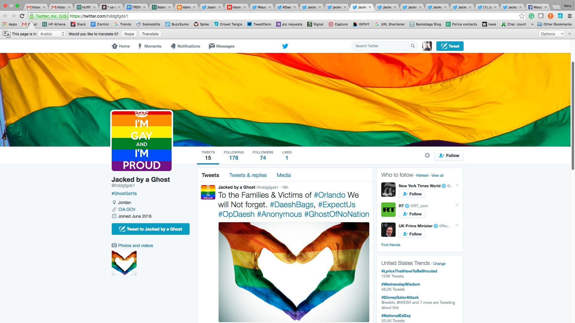 Hackers Improve ISIS Twitter Accounts With Rainbows And Gay