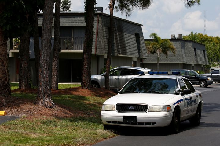 A police car is pictured in front of Omar Mateen's home in Port Saint Lucie, Florida, U.S. June 14, 2016.