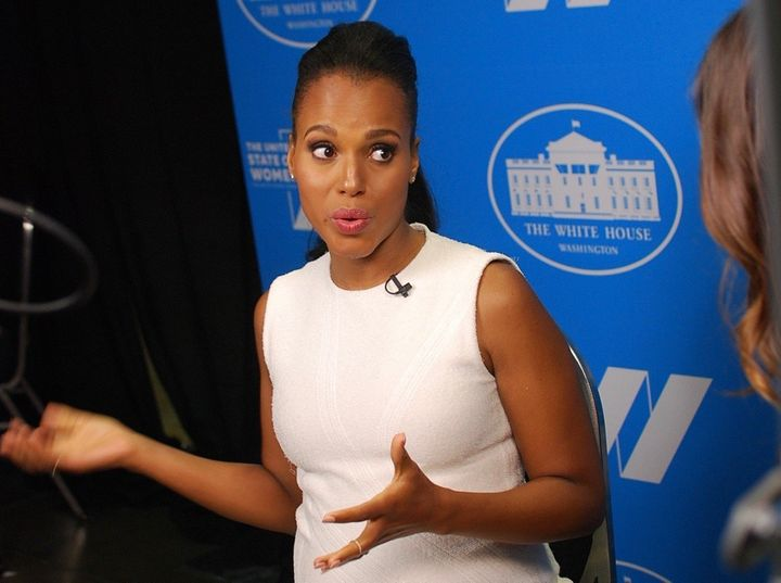 Kerry Washington at the White House's United State of Women summit on Tuesday.