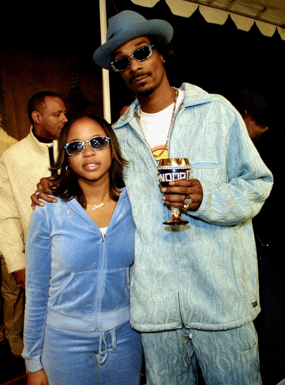 Snoop Dogg -- real name Calvin Broadus -- and his wifeShante Broadus in 2001.