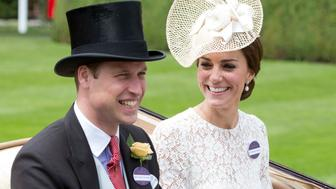 ASCOT, ENGLAND - JUNE 15:  Catherine, Duchess of Cambridge and Prince William, Duke of Cambridge attend day 2 of Royal Ascot at Ascot Racecourse on June 15, 2016 in Ascot, England. (Photo by Julian Parker/UK Press via Getty Images)