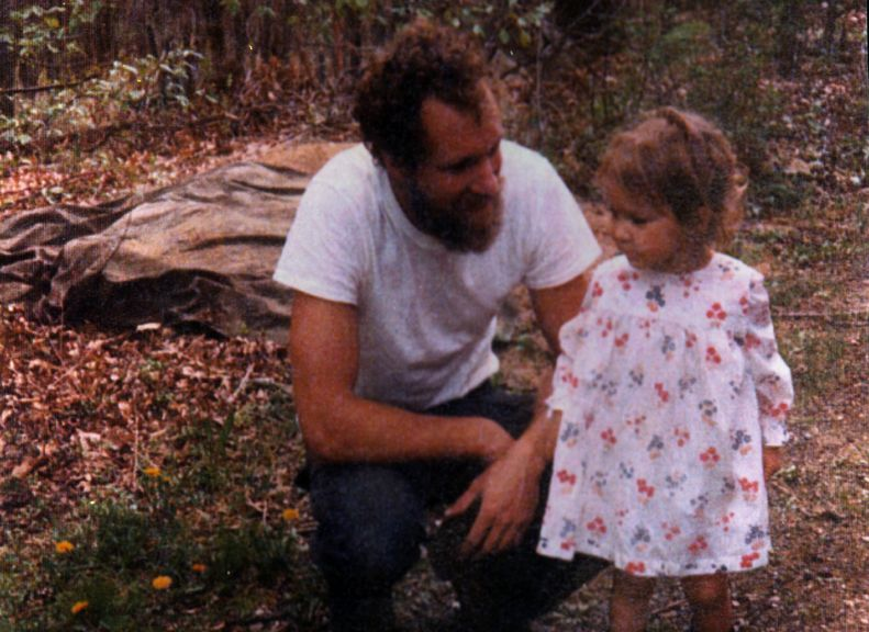 A young Larissa Bates and her father.