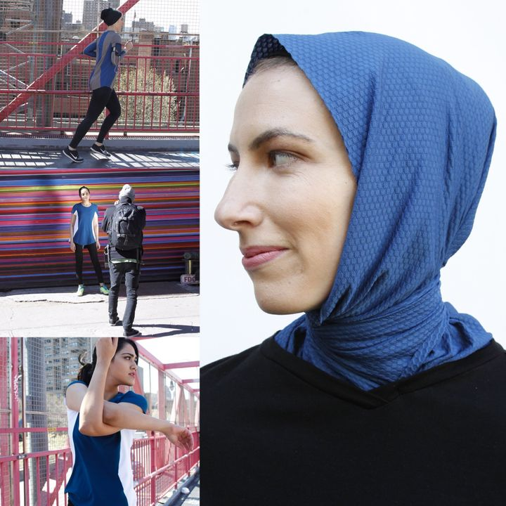 Sukoon uses a combination of merino wool and textured mesh to create lightweight, sweat-wicking shirts and hijabs.