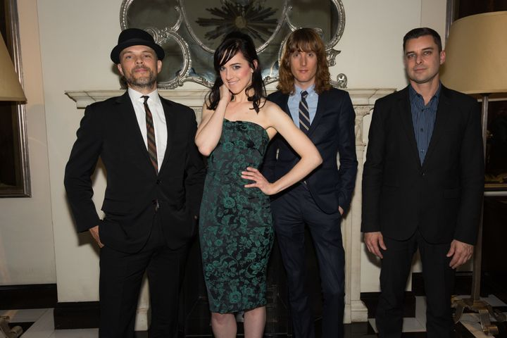 """Seen here with band members Watt White, Justin Craig and Brian Fishler, Lena Hall calls her latest cabaret show """"very therape"""