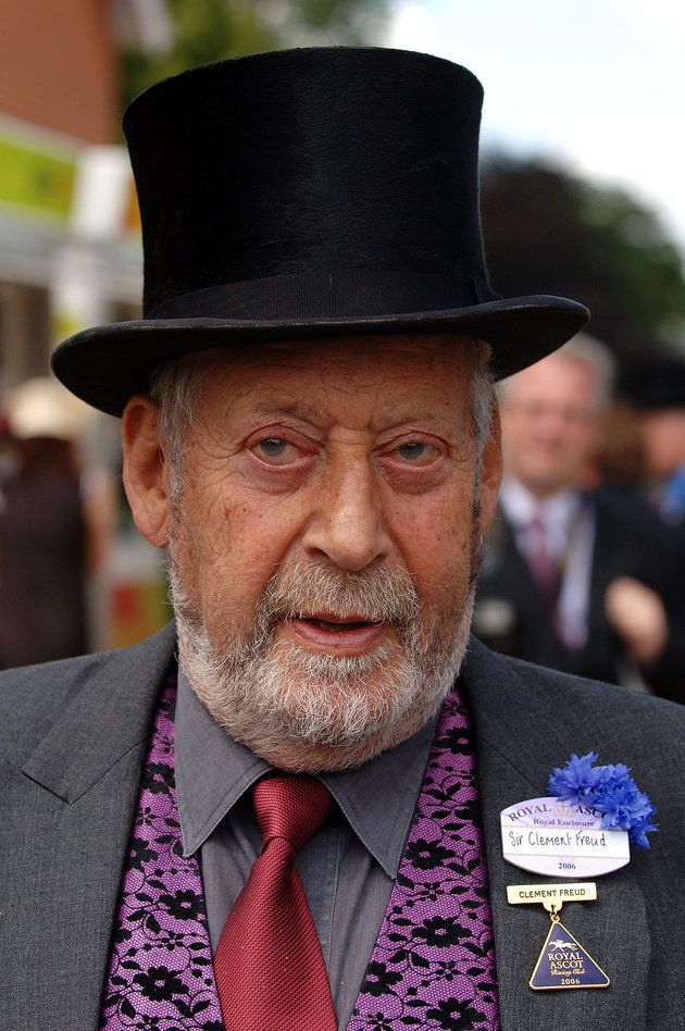 Sir Clement Freud, pictured attending Ladies Day at Royal Ascot in