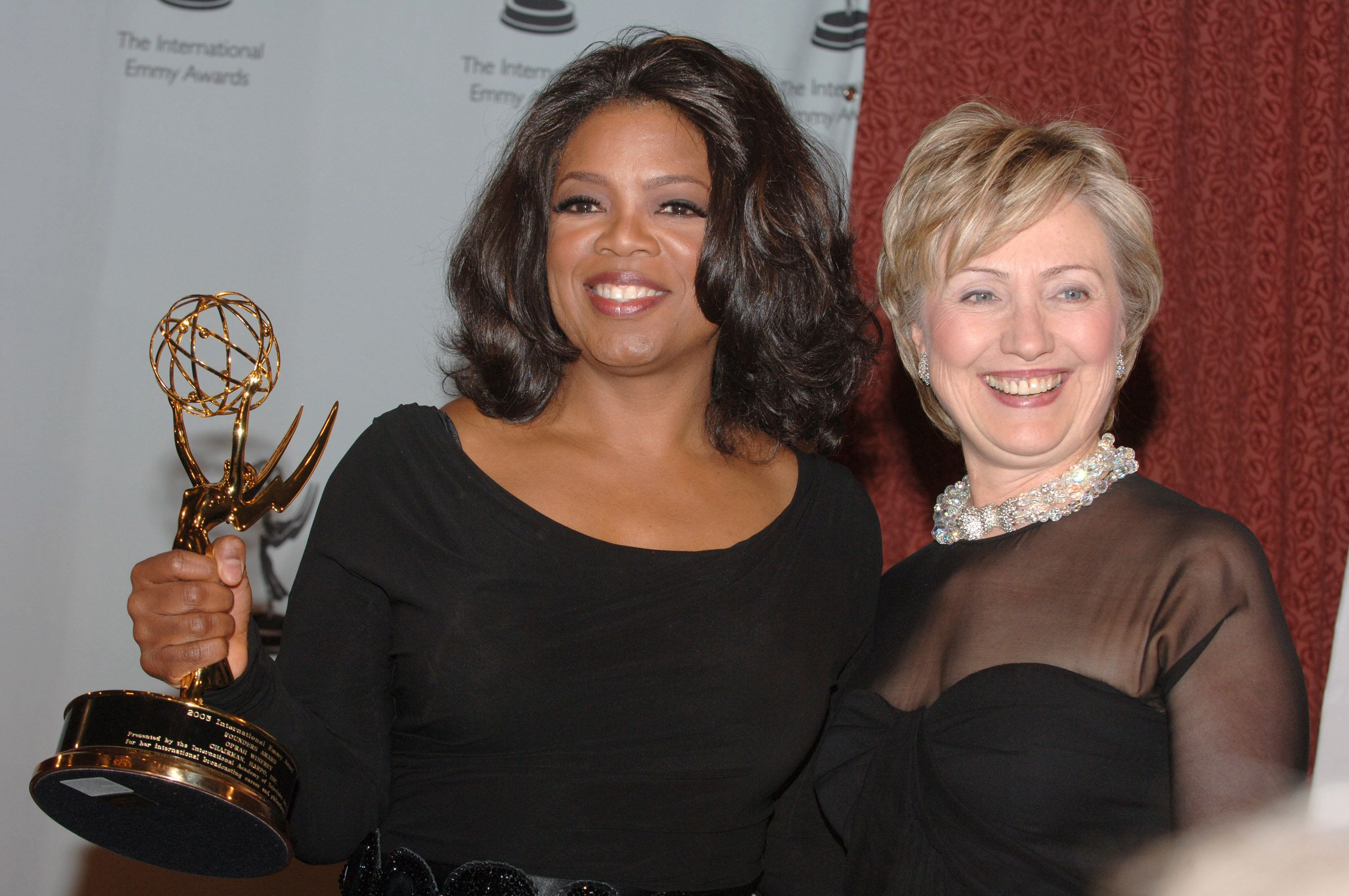 Oprah Winfrey and Senator Hillary Clinton (Photo by Stephen Lovekin/WireImage)