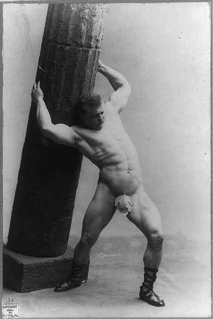 Eugene Sandow and his fig leaf