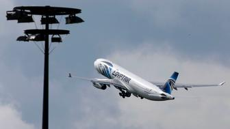 The EgyptAir plane making the following flight from Paris to Cairo,  after flight MS804 disappeared from radar, takes off from Charles de Gaulle airport in Paris, France, May 19, 2016.    REUTERS/Christian Hartmann