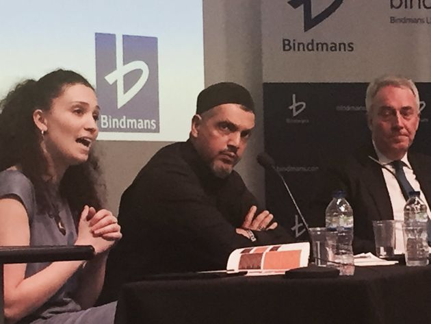Bouattia, left, appeared at the UCL Bindmans debate on the Prevent anti-terror