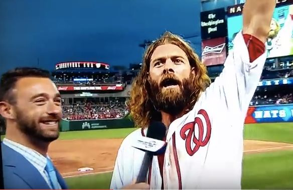 Jayson Werth gives funny post game interview. June 15th, 2016