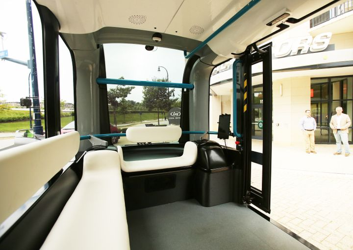 The inside of the Olli.