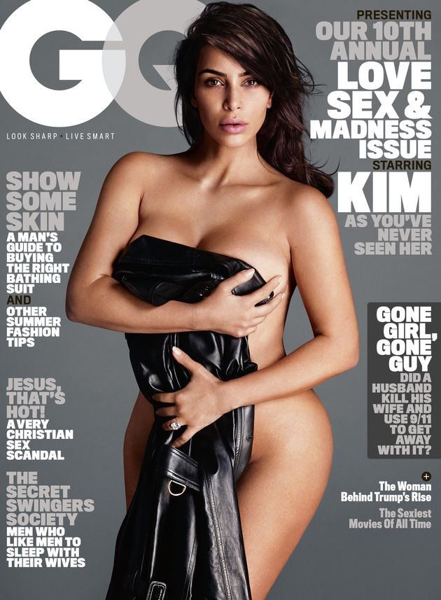 Kim has posed naked for the mag's