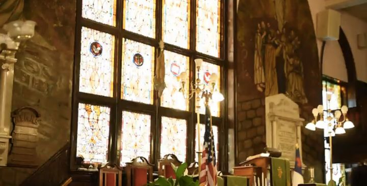 Sunlight streams through the windows of Mother Emanuel during Wednesday's Bible study.