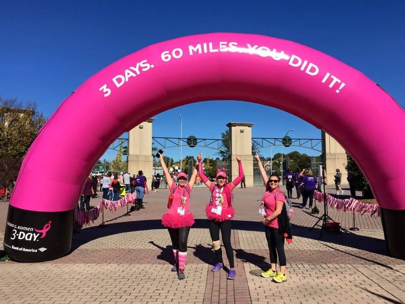 Aviva (center) with her 2015 <i>Race for the Cure</i> team