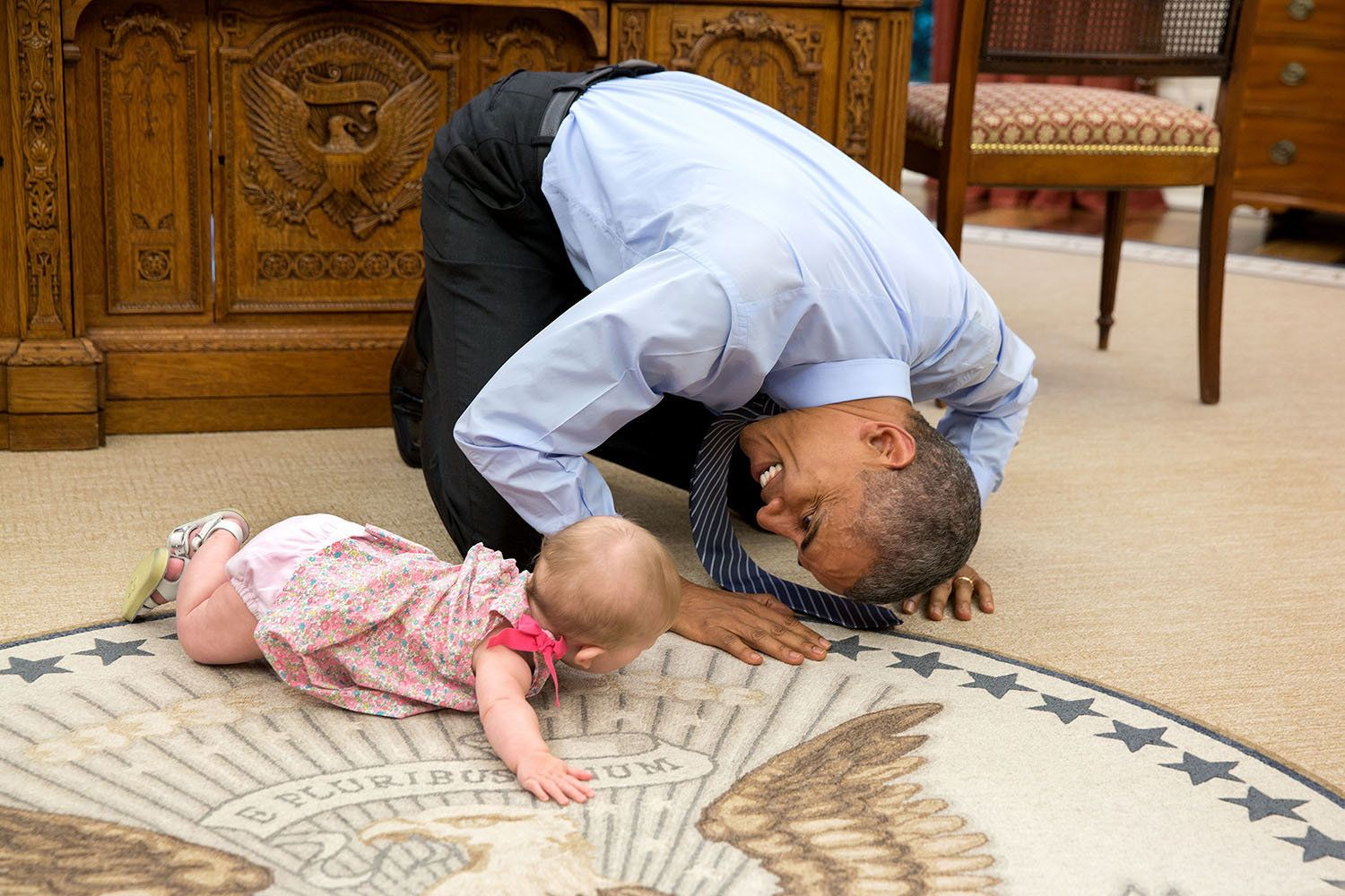 """June 4, 2015  """"At the President's insistence, Deputy National Security Advisor Ben Rhodes brought his daughter Ella by for a"""