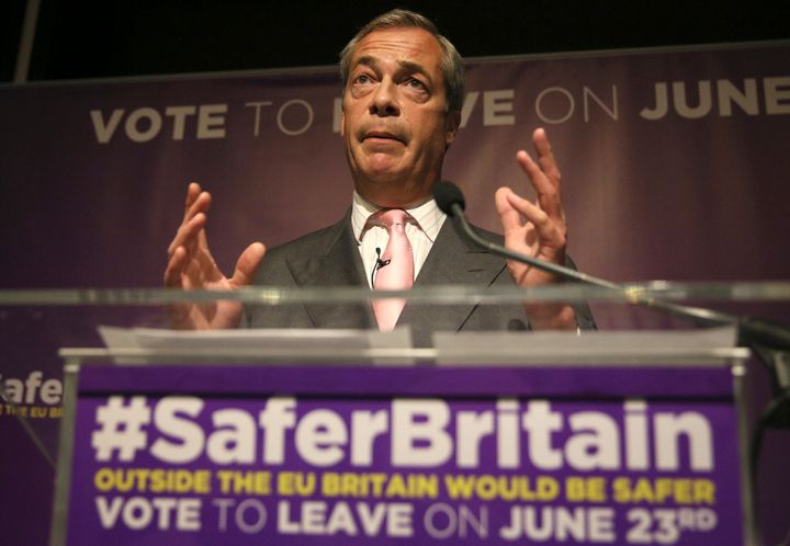 "Some Brits have accused ""Leave"" supporters like Nigel Farage of demonizing immigrants to politically position them&"