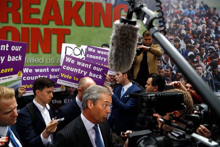 Hours before Cox was killed, United Kingdom Independence Party leader Nigel Farage Farage unveiled a poster&nb