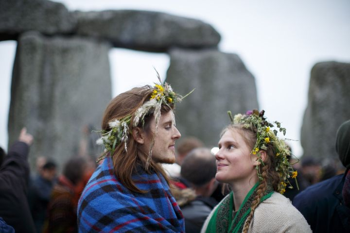 """The summer solstice represents """"the power of light over darkness,"""" said one celebrant."""