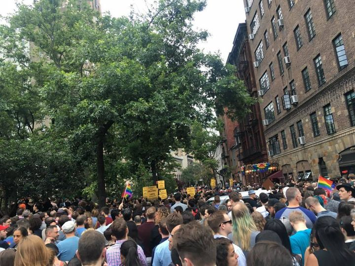 Orlando vigil at Stonewall Inn
