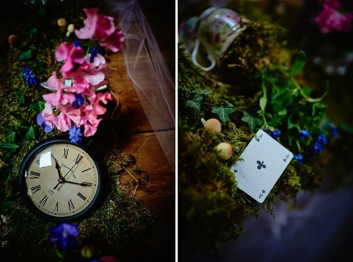 Small details such as clocks and playing card details really cemented the theme.