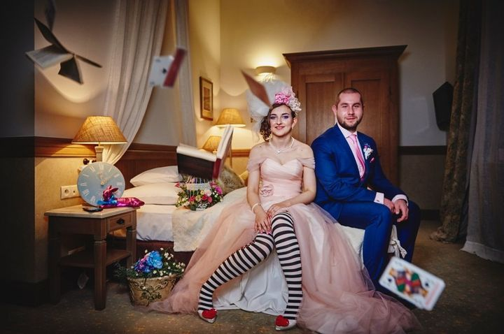 Natalia andRafael Kurzawa let their imaginations run wild when it came to their wedding theme. Theyeven planned the event themselves.