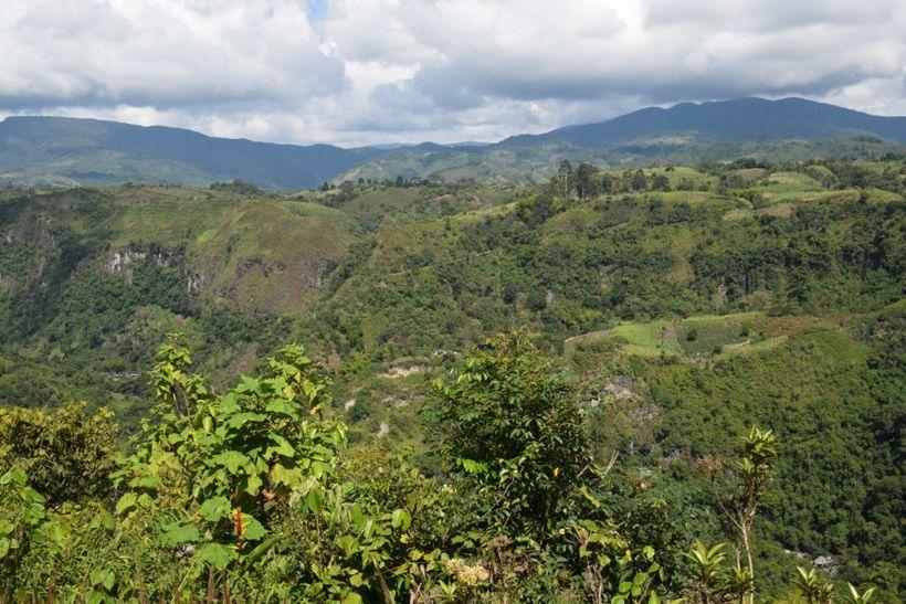Enjoying the views in San Agustin.