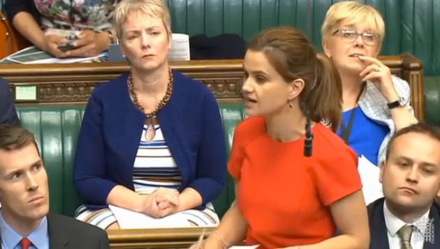 Jo Cox delivers her maiden speech to Parliament on June 3,
