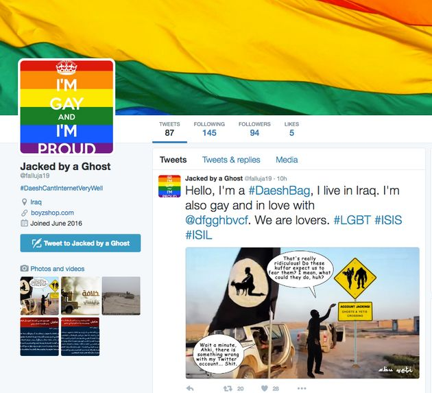 ISIS Supporting Twitter Accounts Hacked With Rainbow LGBT Flags And Gay Porn After Orlando