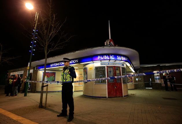Police cordon off Leytonstone Underground Station following the