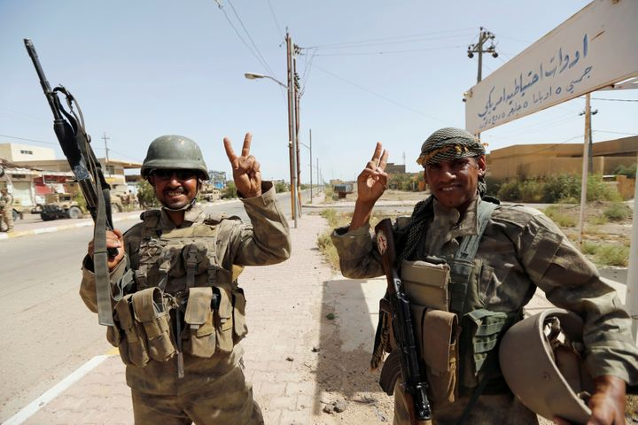 Iraqi government forces, with air support from the U.S.-led coalition, launched themajor operation to retake Fallujah o