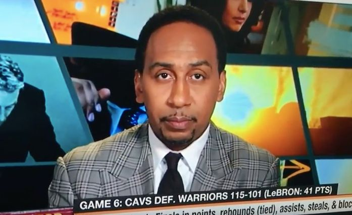 Stephen A. Smith responds to Ayesha Curry's tweet on live television.