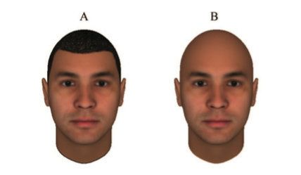 An example of thefaces that study participants were told to copy.