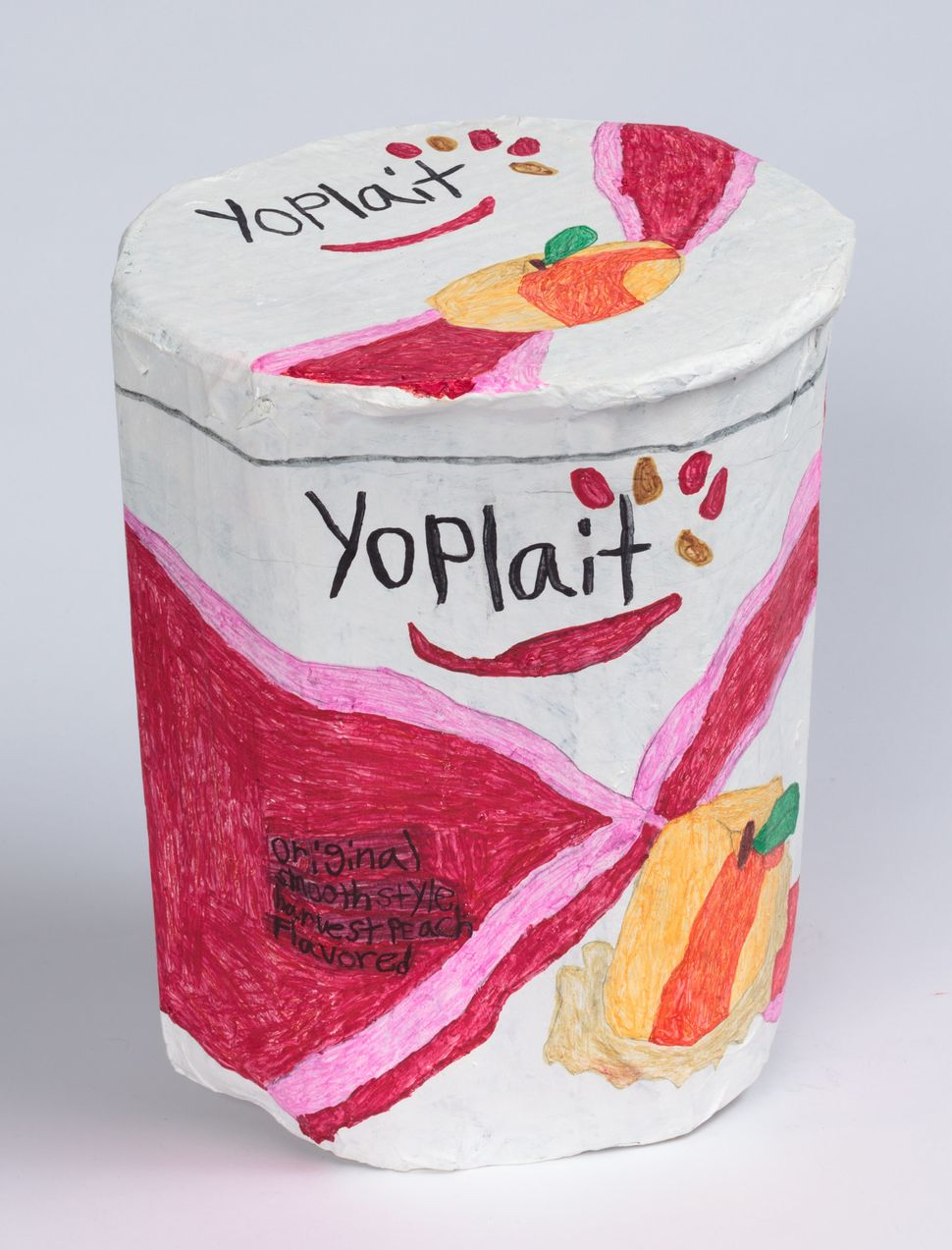 """Yoplait"" by Jesus Huezo, circa 2016, Creativity Explored Licensing, mixed media sculpture, 12 x 9.5 x 9.25 inches."