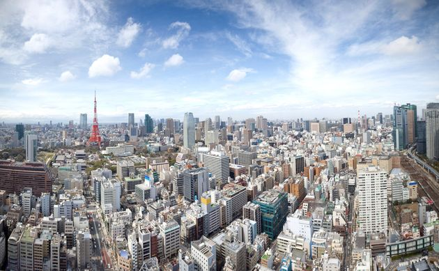 The skyline of Tokyo, Japan. With38 million residents, Tokyois the largest urban area in...