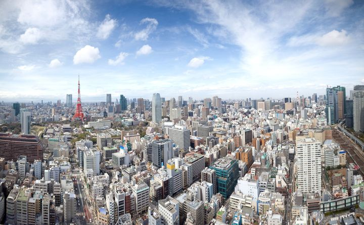"""The skyline of Tokyo, Japan. With38 million residents, <a href=""""http://www.citymetric.com/fabric/where-are-worlds-large"""