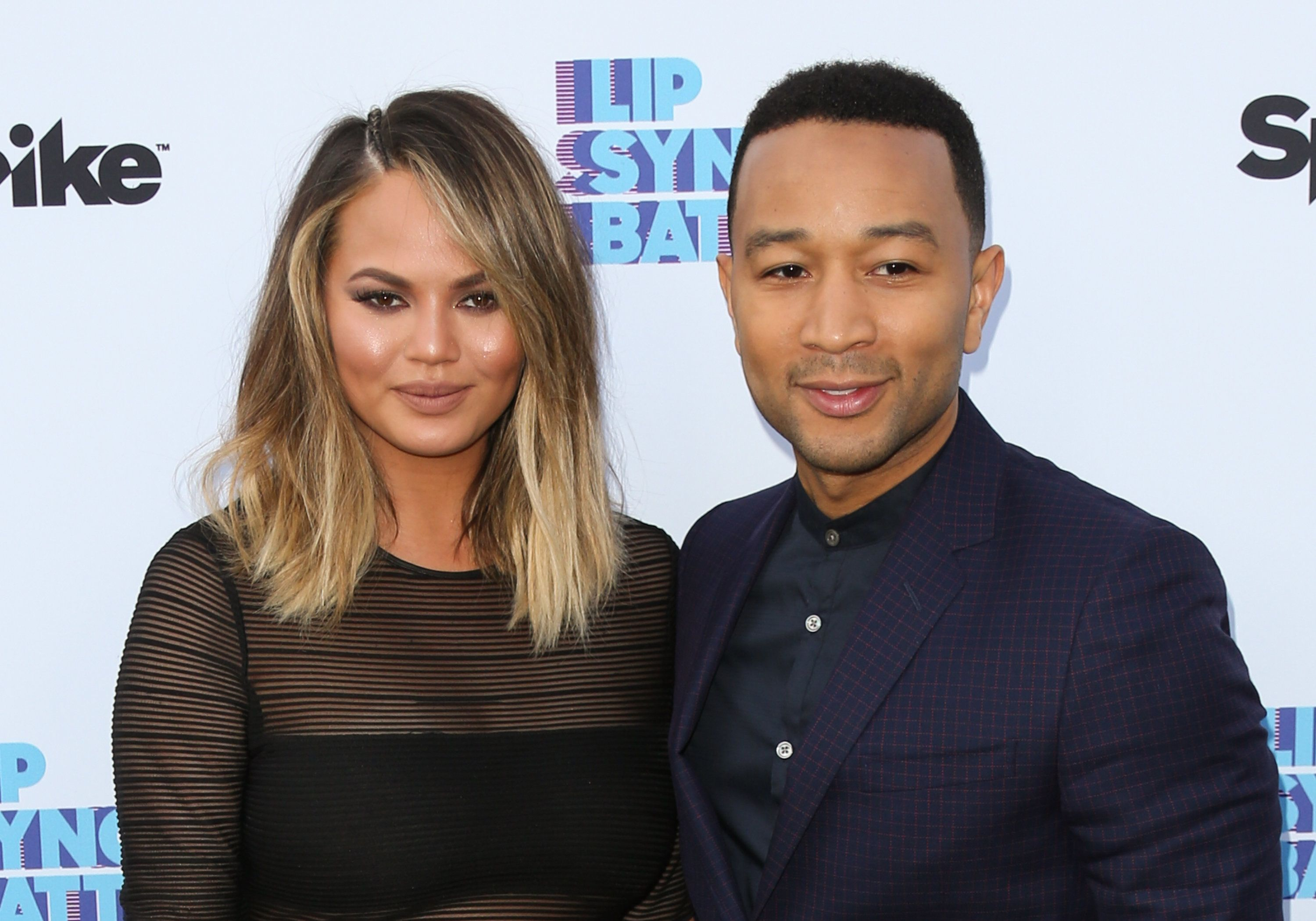 NORTH HOLLYWOOD, CA - JUNE 14:  Fashion Model Chrissy Teigen (L) & her Husband Musician John Legend (R) attend the screening of Spike's 'Lip Sync Battle' on June 14, 2016 in North Hollywood, California.  (Photo by Paul Archuleta/FilmMagic)