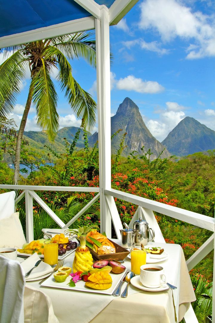 "<a href=""http://www.ansechastanet.com/"" target=""_blank"">Anse Chastanet</a> features views of Saint Lucia's Pitons,"
