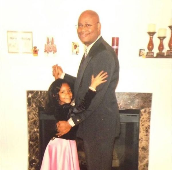 """This is my dad, Anthony Baker, and I at my first daddy daughter dance. He's always been such a great example of a leader. He"