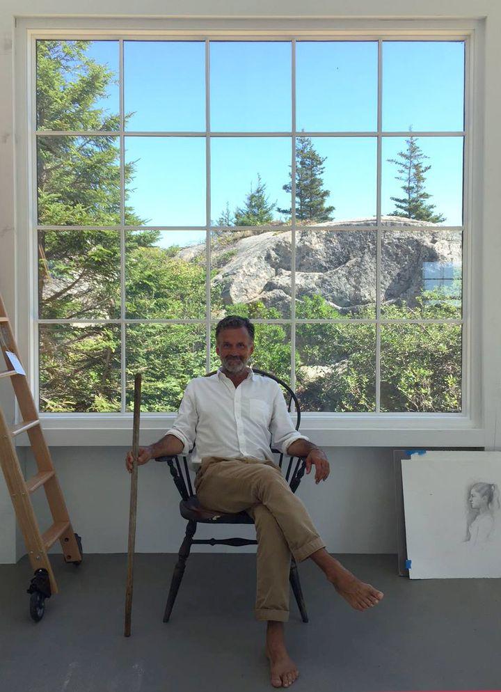 Bo Bartlett in his Maine studio