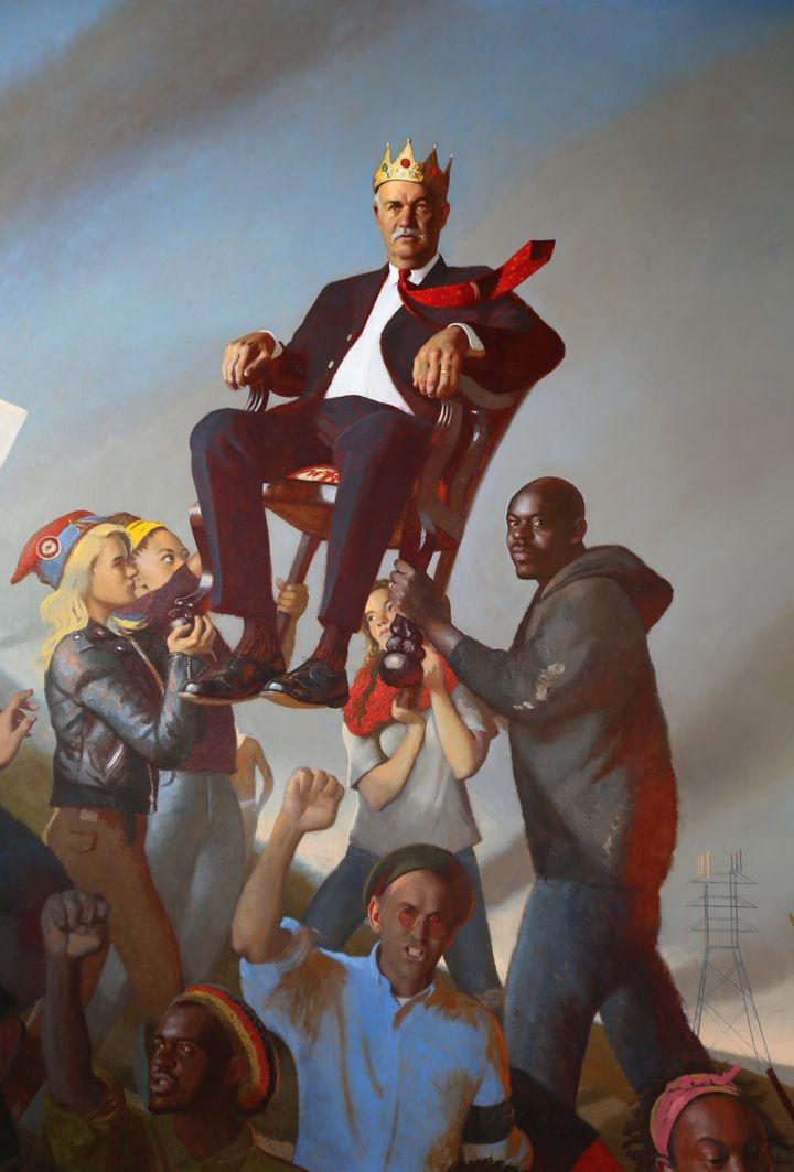 Bo Bartlett, <i>Oligarchy</i>, 2015, Oil on linen, 120 x 88 inches