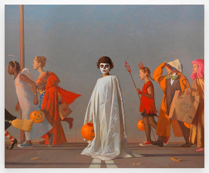 Bo Bartlett<i>, Halloween, </i>2016,&nbsp;Oil on linen,&nbsp;82 x 100 inches