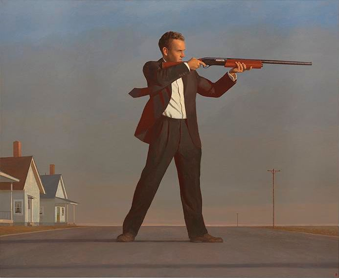 Bo Bartlett, <i>The American</i>, 2016, Oil on linen, 82 x 100 inches